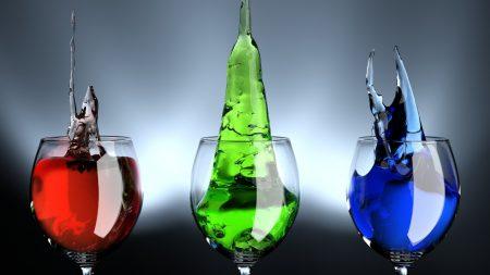 wine glasses, liquid, splash