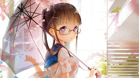 wings, girl, umbrella