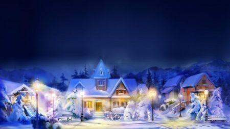 winter, home, snow