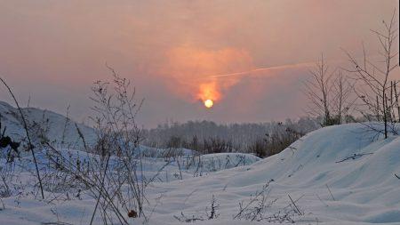 winter, light, sun