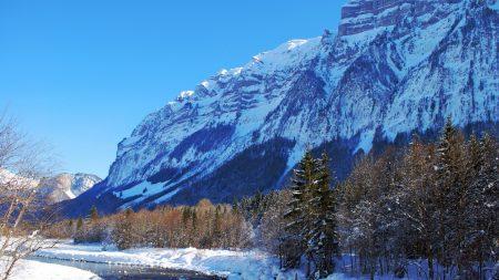 winter, mountains, freshness