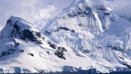 winter, mountains, ice