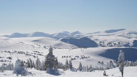 winter, mountains, slopes
