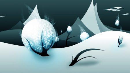 winter, snow, trees