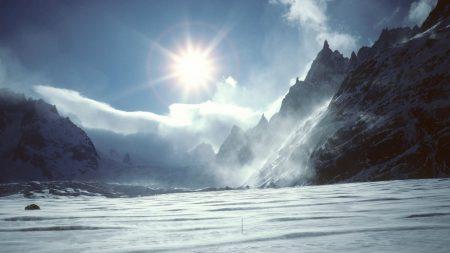 winter, sun, light