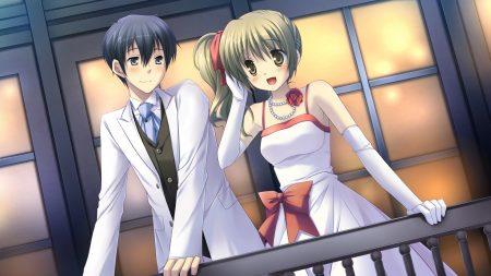 with ribbon, makiya sumika, boy