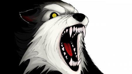 wolf, aggression, teeth
