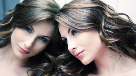 woman, person, reflection