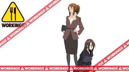 working, girls, pose