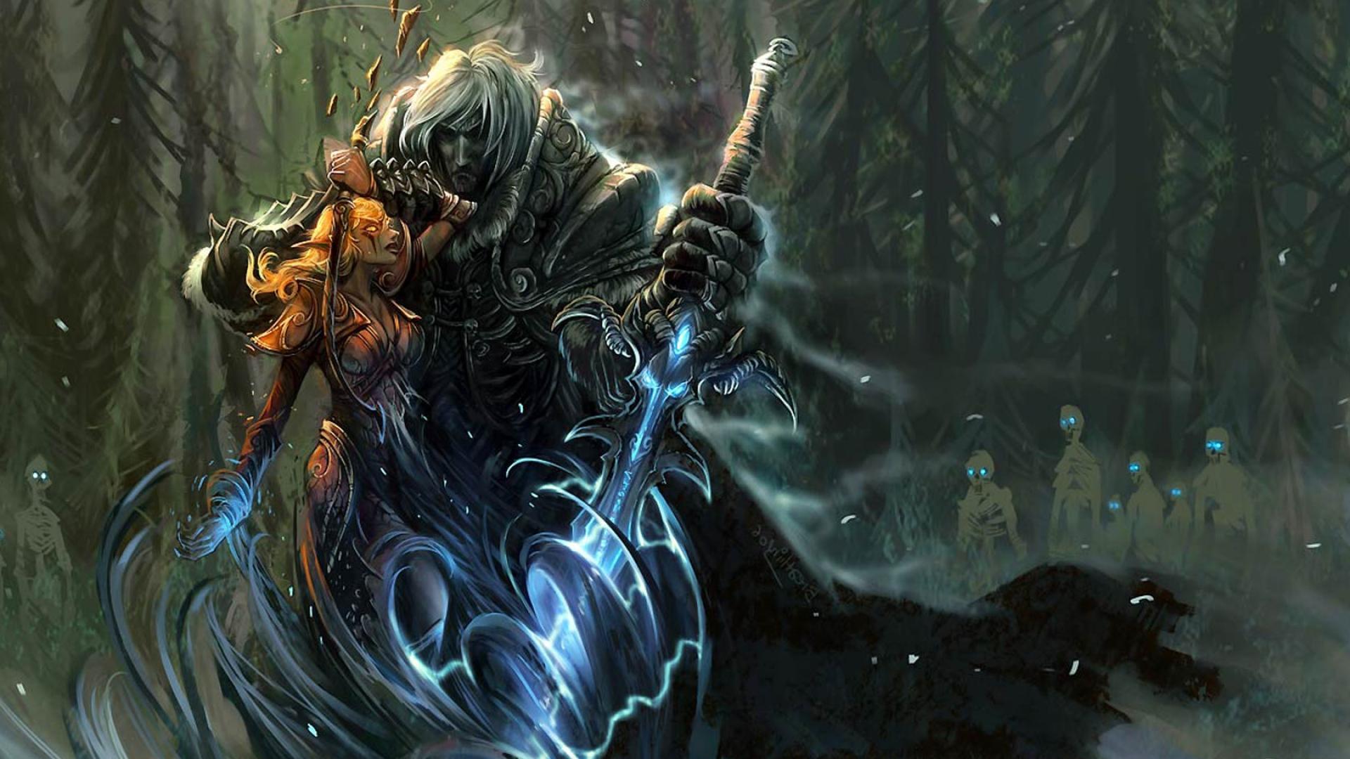 Download Wallpaper 1920x1080 World Of Warcraft Arthas Sword