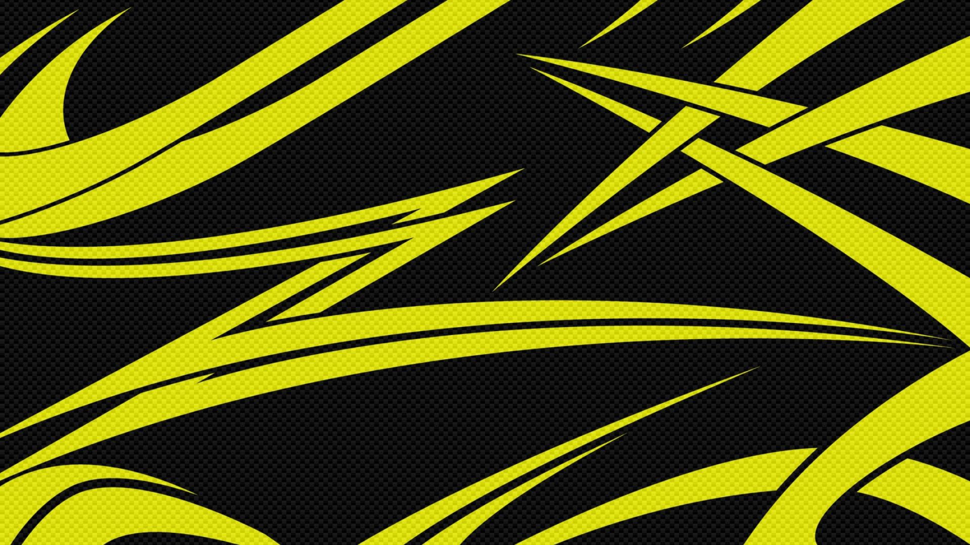 Download Wallpaper 1920x1080 Yellow Black Lines Sharp