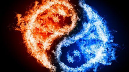 yin-yang, fire, water