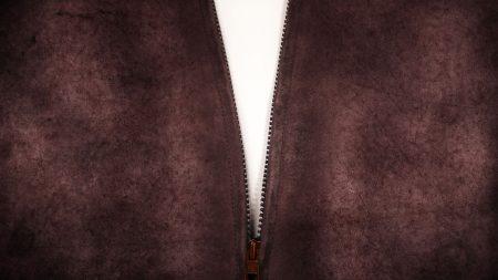 zipper, brown, white